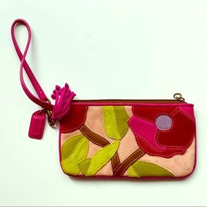 Coach Special Edition Poppies For Peace Wristlet